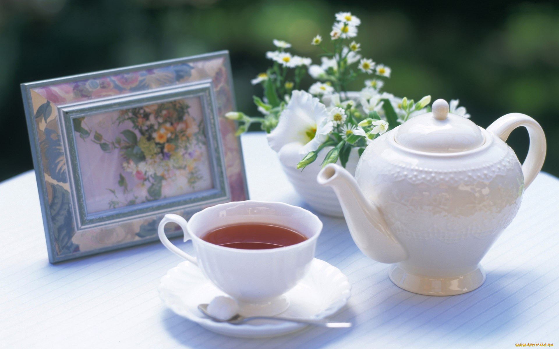 Утренний чай открытка